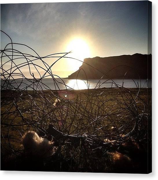 Geology Canvas Print - Sunset Over Talisker Bay... #cliffs by Robert Campbell