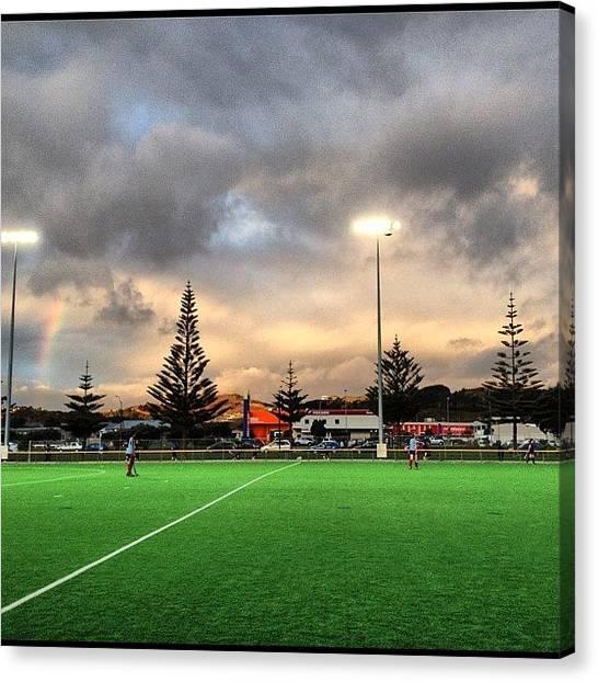 Hockey Canvas Print - Sunset Over The Hockey #iphonesia by Stewart Baird