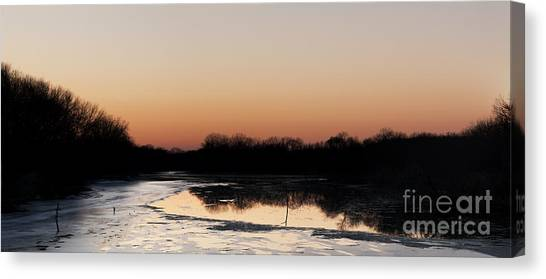 Sunset Over The Republican River Canvas Print