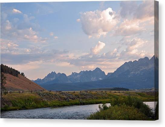 Sunset Over The Salmon River Canvas Print