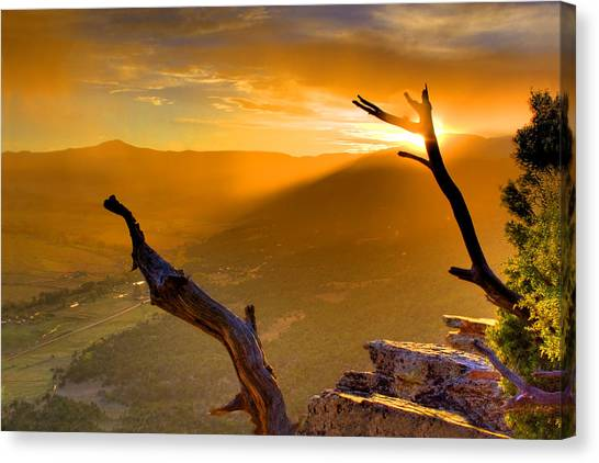 Sunset Over The Valley Canvas Print