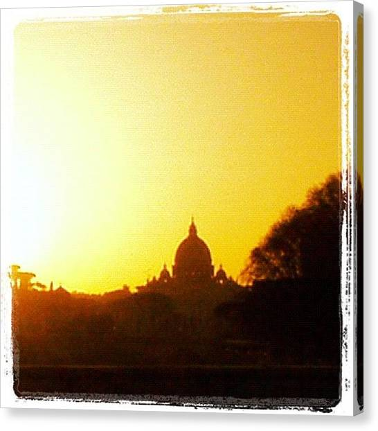 Rome Canvas Print - Sunset Over The Vatican by Noah Jacob