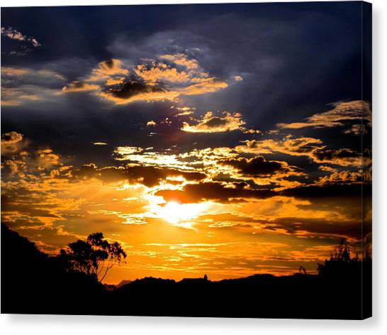 Sunset Over Topanga Canvas Print by Catherine Natalia  Roche