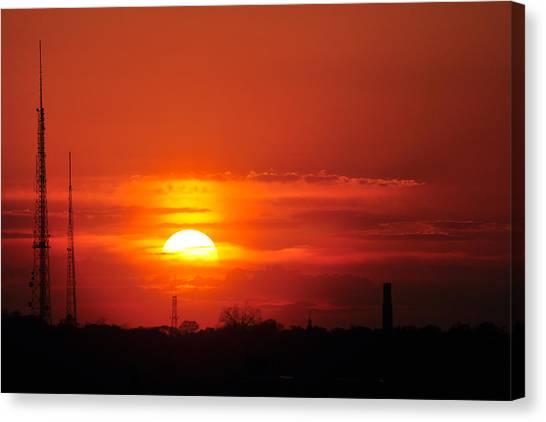 Sunset Over Washington Dc Canvas Print