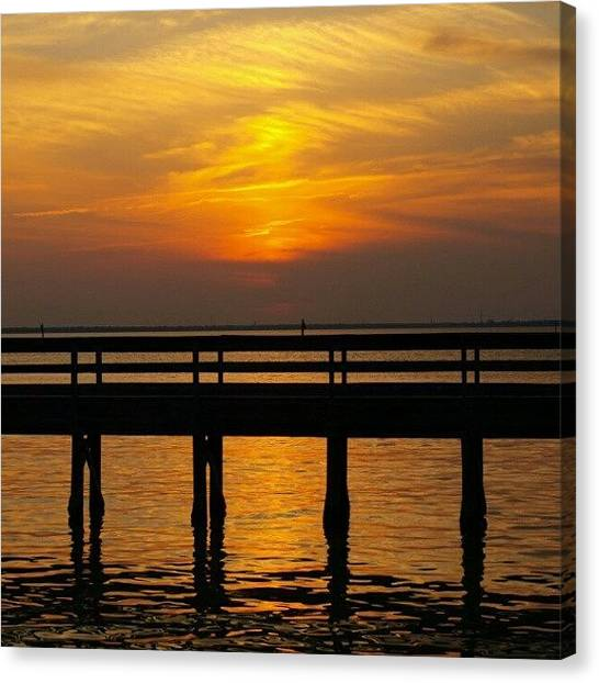 Florida Canvas Print - Sunset Peir IIi by James Granberry