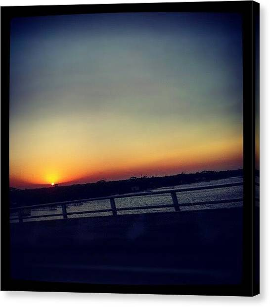 Rainbows Canvas Print - #sunset #rainbow #cool #bridge #driving by Mandy Shupp
