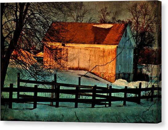 Sunset Reflects - Aged Photo Canvas Print