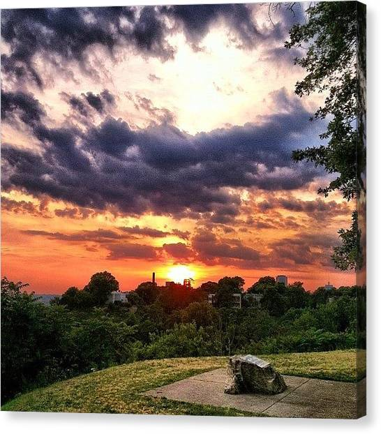 Virginia Canvas Print - #sunset #richmond by Monti The Lone Wanderer
