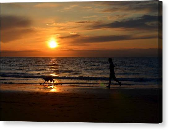 Sunset Run Canvas Print