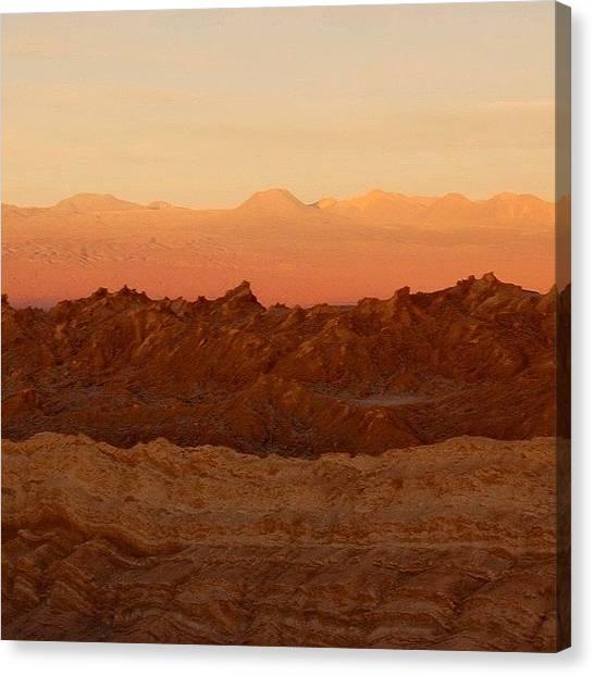 Atacama Desert Canvas Print - #sunset #semfiltro #atacama #chile by Ursula Marcondes