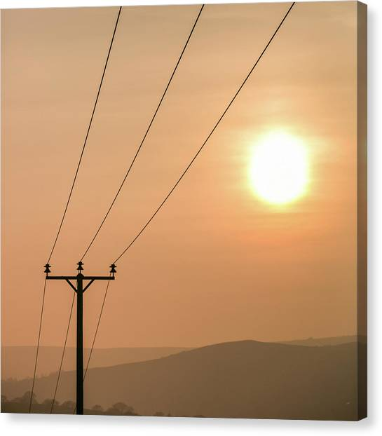 Sunset Telecoms Canvas Print by Peter Chadwick LRPS
