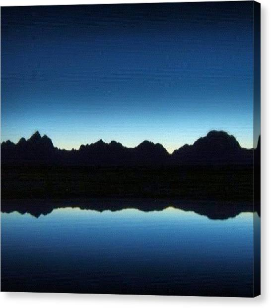 Tetons Canvas Print - #sunset #tetons #grandtetons #wy by Yvette Harbour
