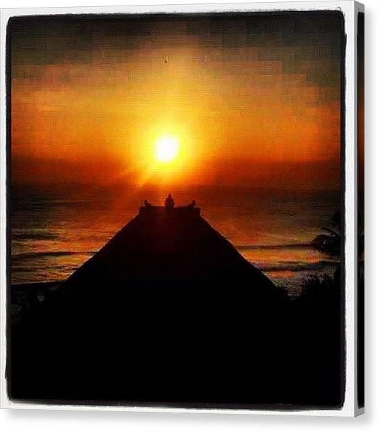 Ocean Sunrises Canvas Print - #sunset by The Fun Enthusiast