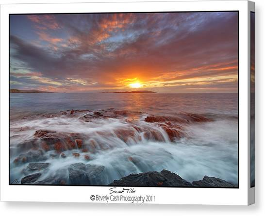 Sunset Tides - Cemlyn Canvas Print