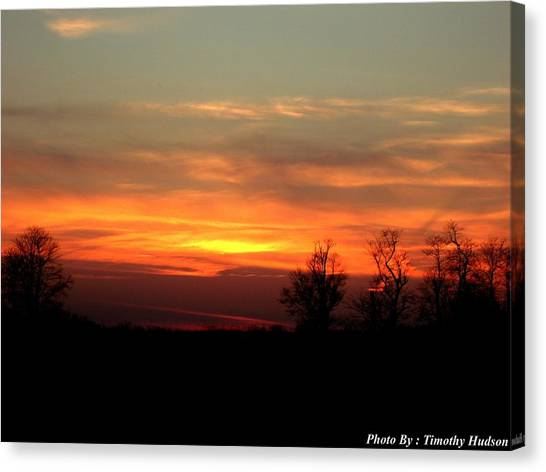 Sunset Canvas Print by Timothy Hudson