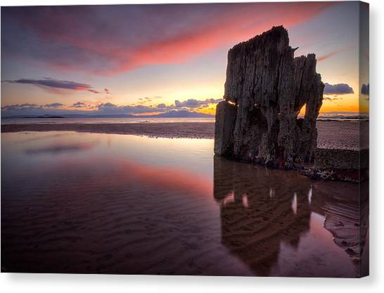 Sunset Wreck Canvas Print