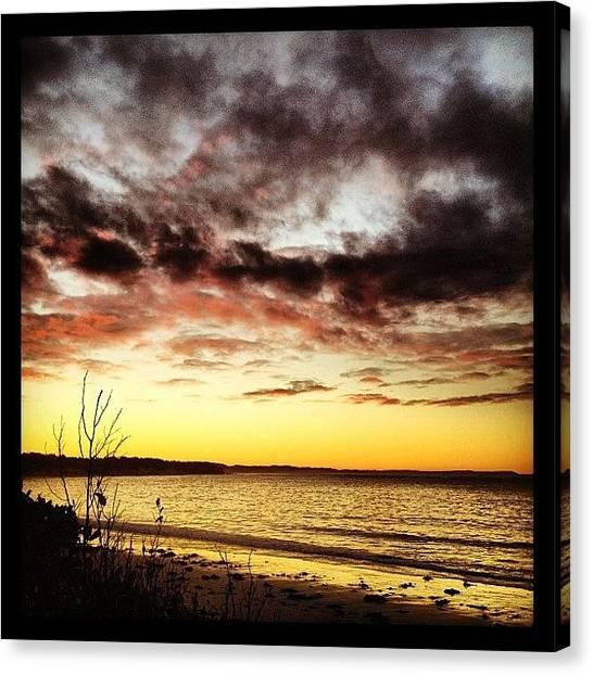 Mermaids Canvas Print - #sunset,#beach,#east_coast by Shayle Graham