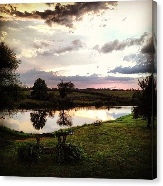 Kentucky Canvas Print - #sunsets Are #pretty #cool. | #sunset by Hunter Graham