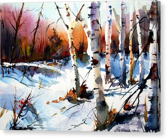 Sunshine And Birch Canvas Print