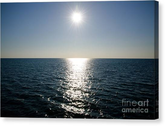 Sunshine Over The Mediterranean Sea Canvas Print
