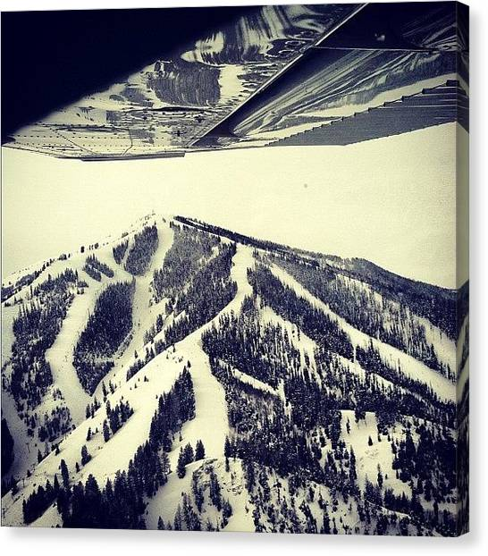 Snowboarding Canvas Print - #sunvalley #hot #fly #awesome #airplane by Cesar D Romero
