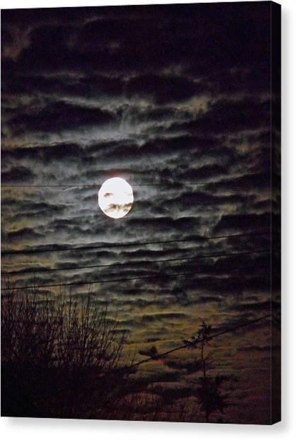 Super Moon 5 Canvas Print