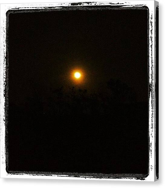 Large Birds Canvas Print - Super Moon by Marc Crow