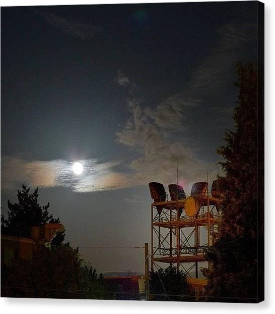 Seattle Canvas Print - Super Moon by T Catonpremise