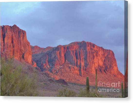 Superstitions After The Rain Canvas Print by Patty Descalzi