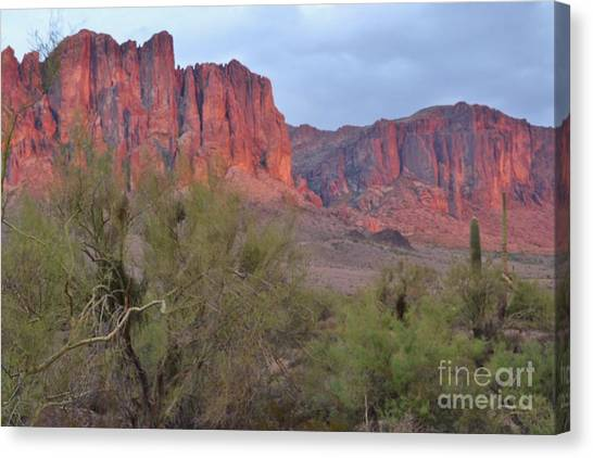 Superstitions Canvas Print by Patty Descalzi