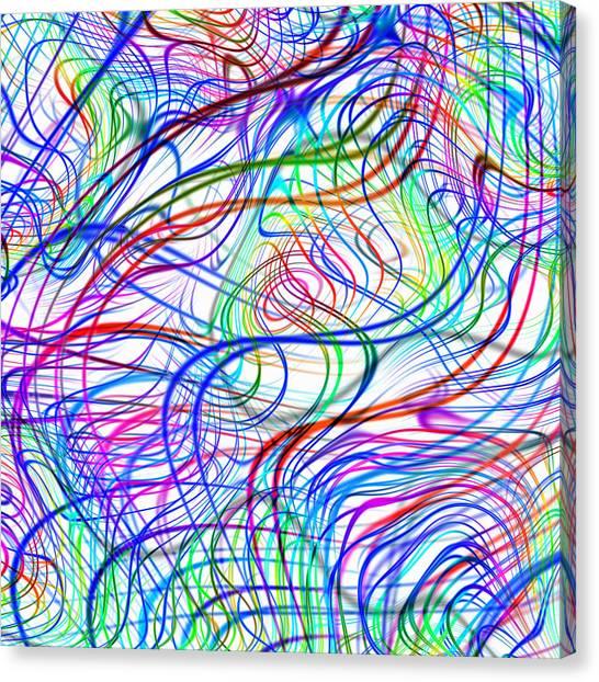 Superstrings, Conceptual Artwork Canvas Print by Mehau Kulyk