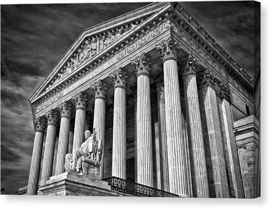 Supreme Court Building 5 Canvas Print by Val Black Russian Tourchin