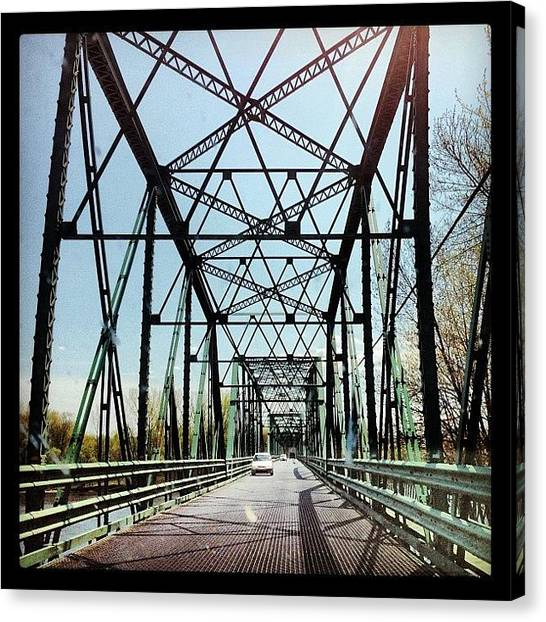Quebec Canvas Print - Sur Le Pont by Isabel Poulin