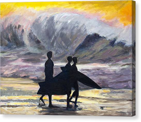 Surf Riders Canvas Print