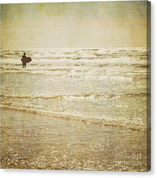 Surf The Sea And Sparkle Canvas Print