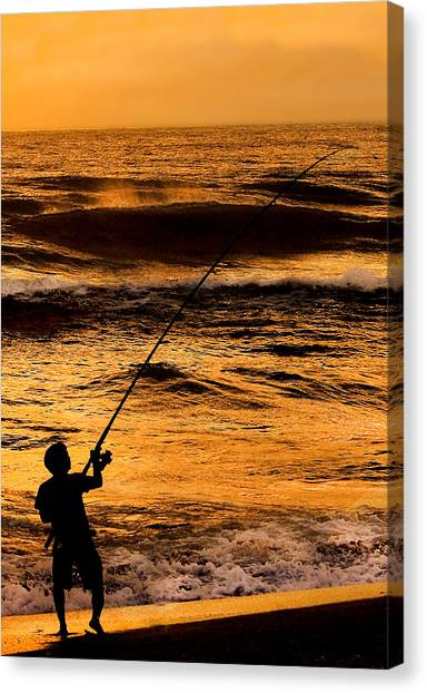 Canvas Print - Surfcaster by Don Durfee