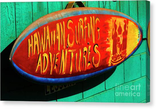 Surfboard Fence Canvas Print - Surfing Adventures by Bob Christopher