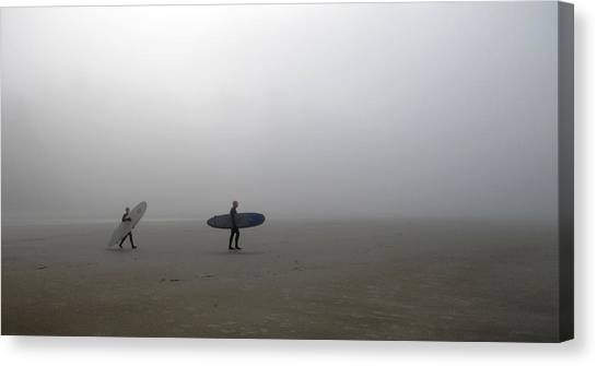 Surfing Into The Abyss Canvas Print