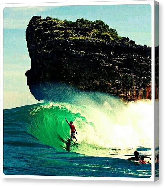 Surfing Canvas Print - Surfs Up! #beach #ocean #water #waves by Mary Carter