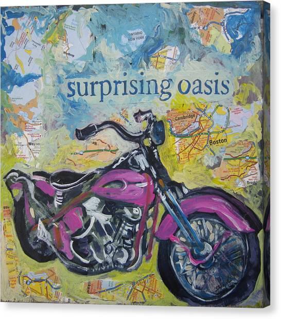 Surprising Oasis Canvas Print