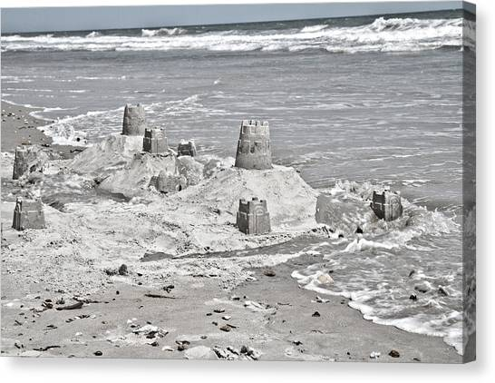 Sand Castles Canvas Print - Surreal Unreal by Betsy Knapp