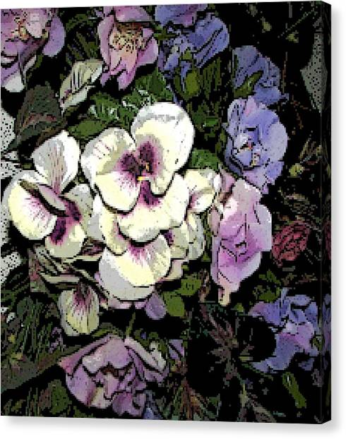 Surrounding Pansies Canvas Print
