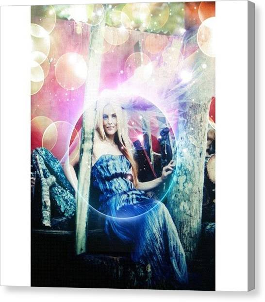 Wizards Canvas Print - #survivor  @catg239 #magic #fairy #cat by Maria Lankina