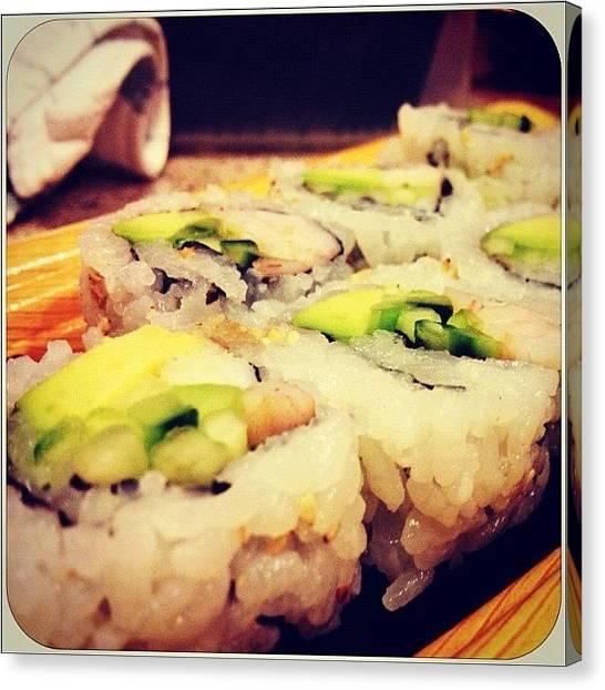 Seafood Canvas Print - #sushi #food #yum #yummy #delicious by Marisag ☀✌