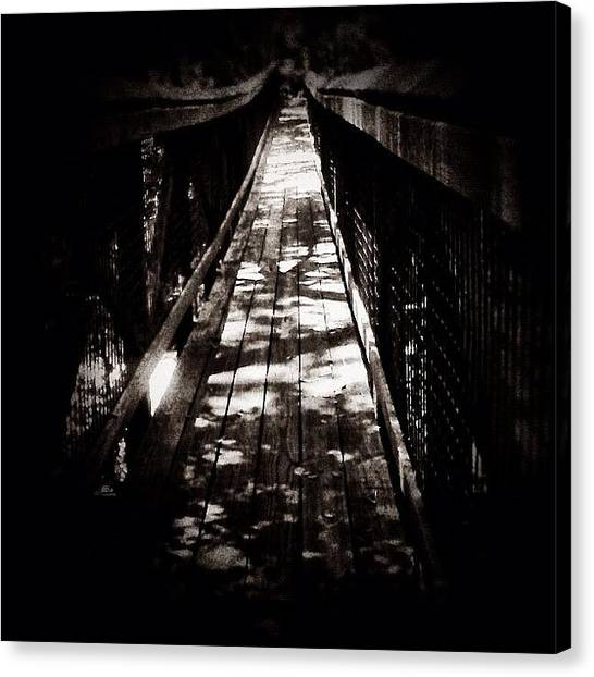 Iphone 4 Canvas Print - Suspension - Cross Over To The Other by Photography By Boopero