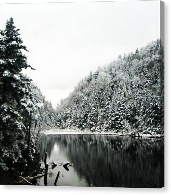 Quebec Canvas Print - #sutton #lake In #winter by Yannick Menard