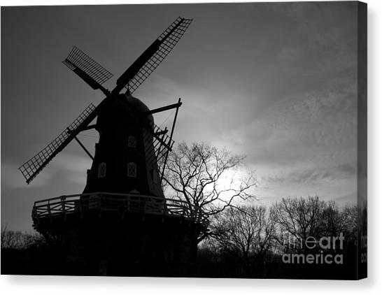 Swedish Windmill Canvas Print by Mike  Connolly