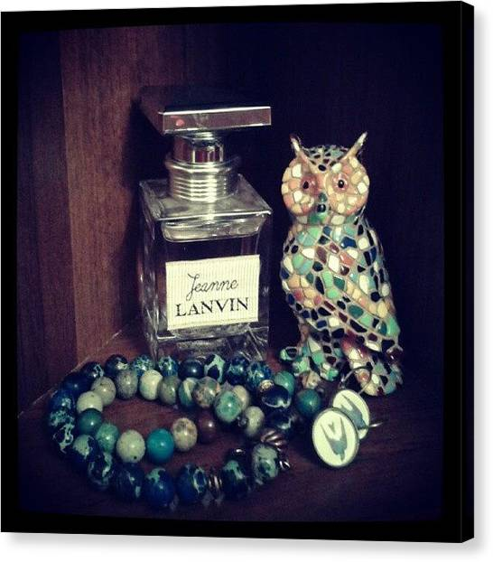 Owls Canvas Print - Sweet #home by Irina Bubnova