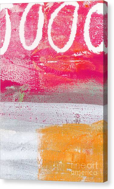 Abstract Landscape Canvas Print - Sweet Summer Day by Linda Woods