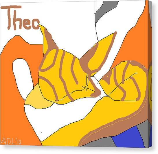 Sweet Theo Canvas Print
